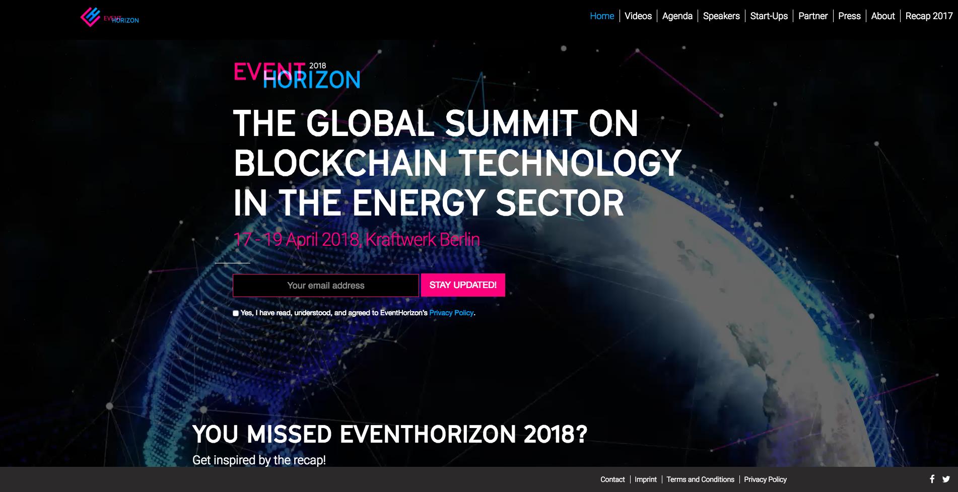 Webseite Desktop Eventhorizon