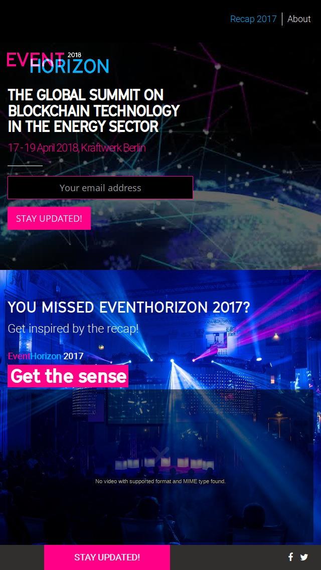 Webseite Mobil Eventhorizon