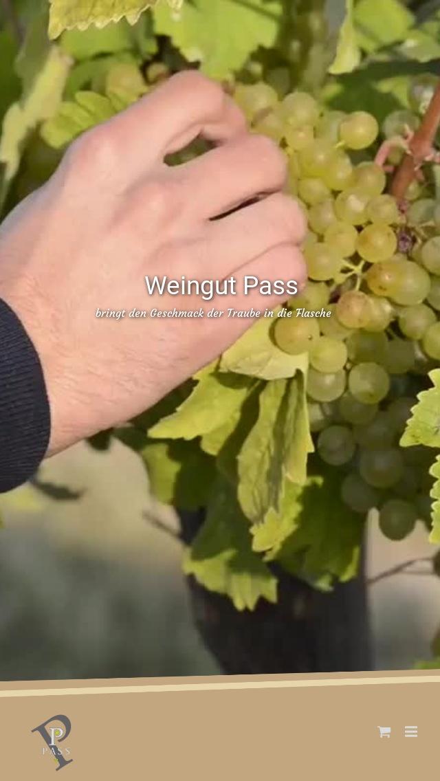 Webseite Mobil Weingut Pass