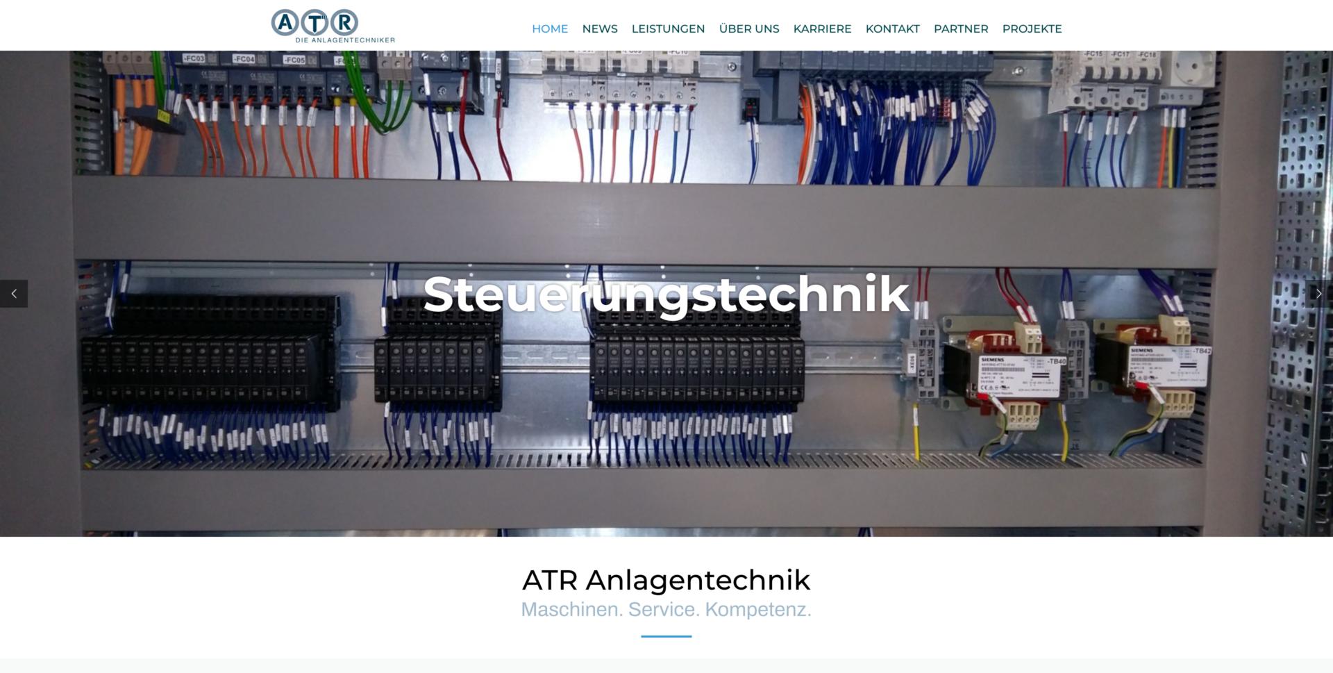Webseite Desktop ATR die Anlagentechniker