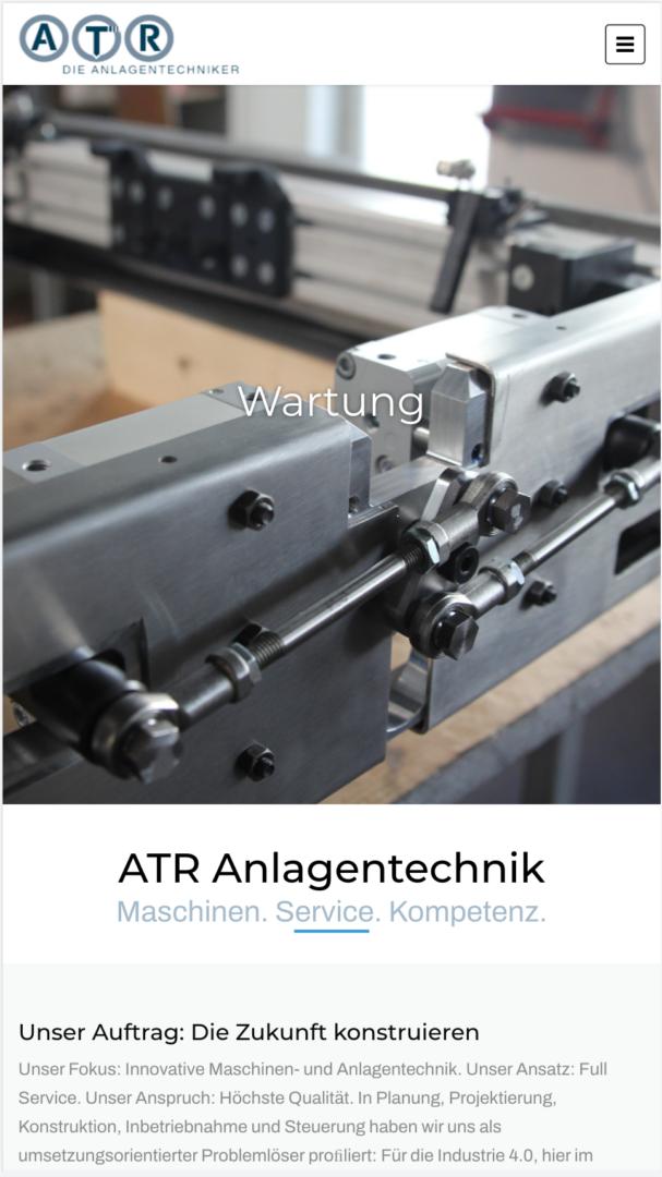 Webseite Mobil ATR die Anlagentechniker