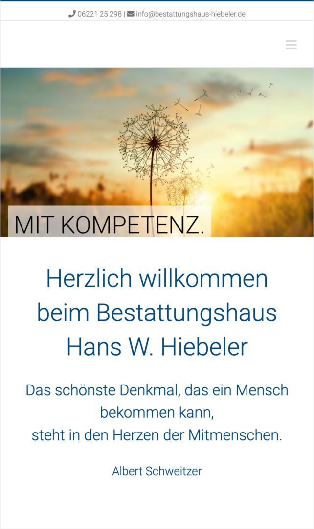 Webseite Mobil Hiebeler