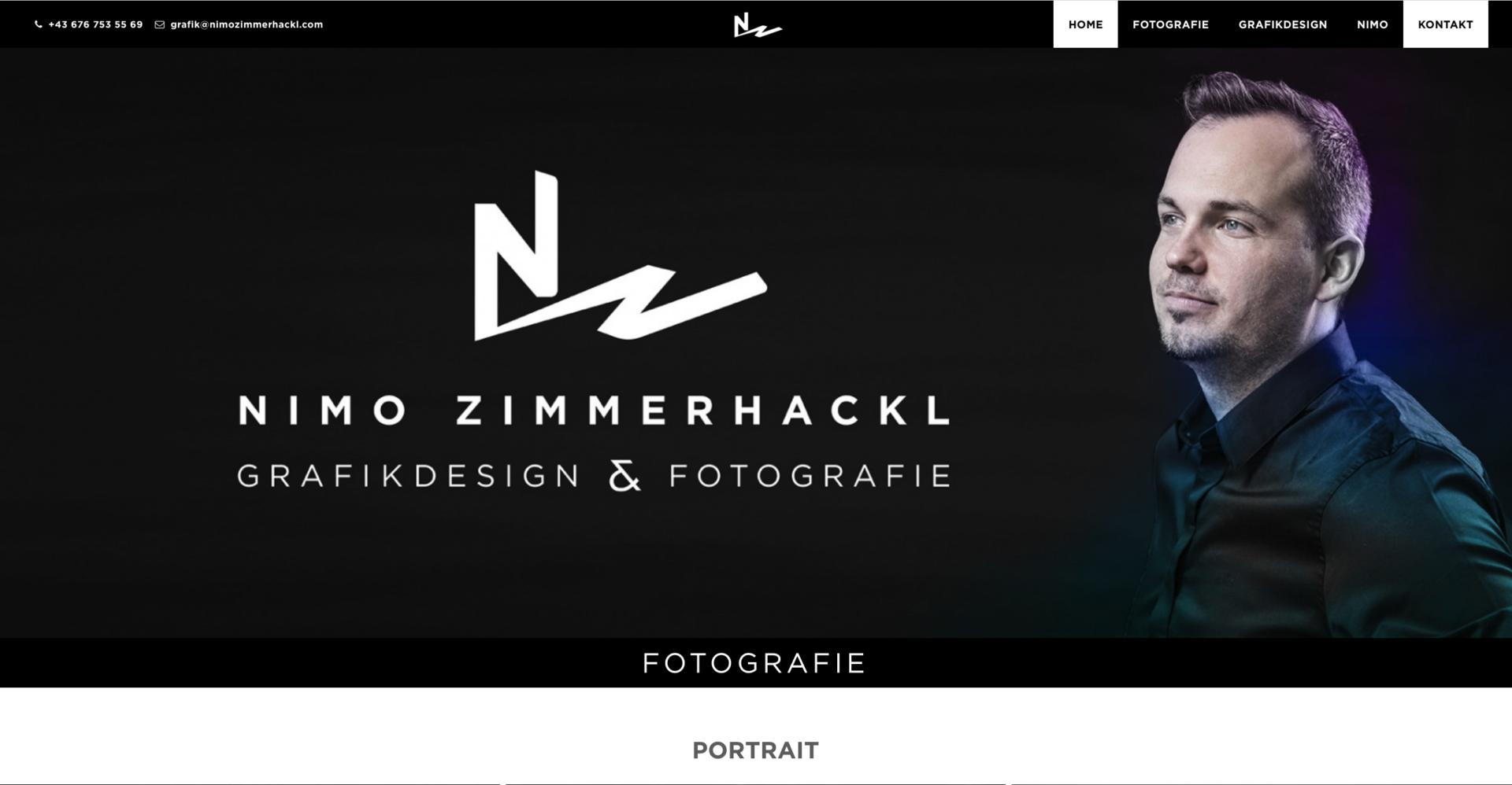 Webseite Desktop nimo