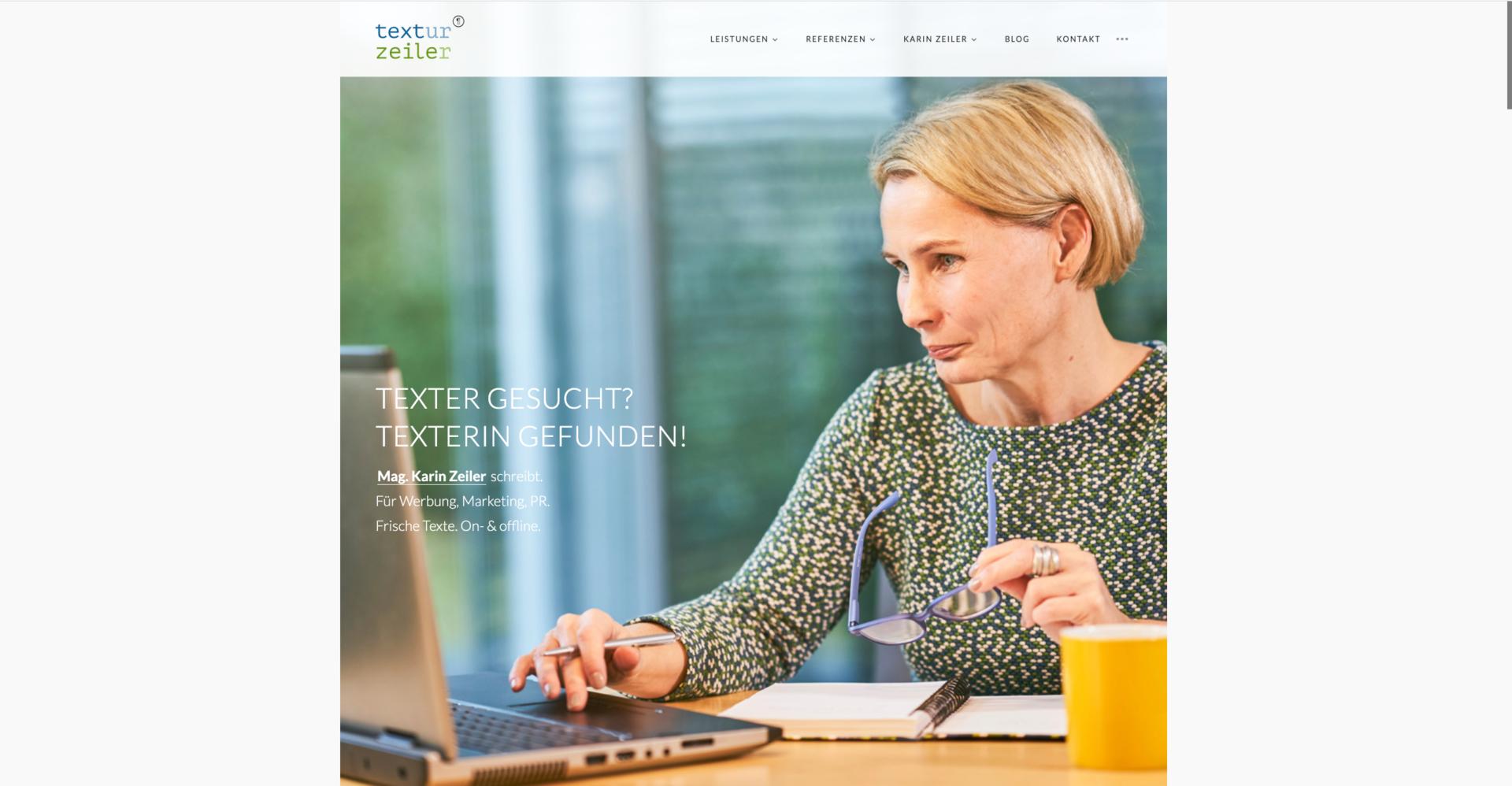 Webseite Desktop Karin