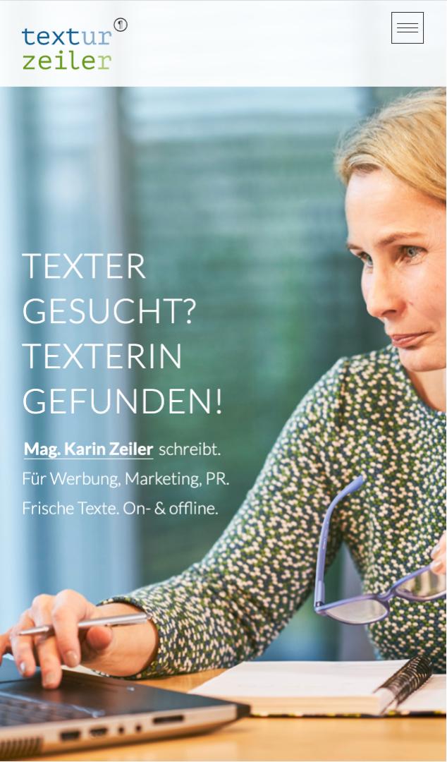 Webseite Mobil Karin